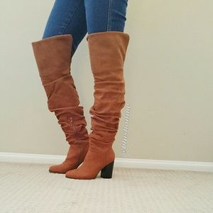 Shoes - Rutched Scrunch Tall Boots